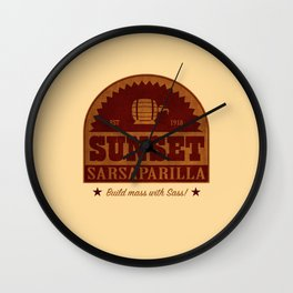Sunset Sarsaparilla Wall Clock