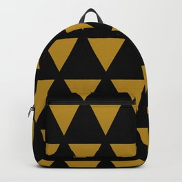 Geometric Pattern Golden Triangle Antique Lover  Backpack