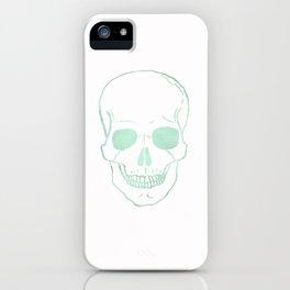 Mint Watercolor Skull  iPhone Case