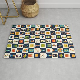 Retro Games Night Rug
