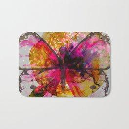 Vivid Butterfly Bath Mat