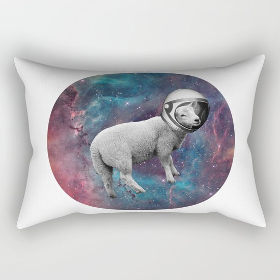 The Space Sheep 2.0 Rectangular Pillow