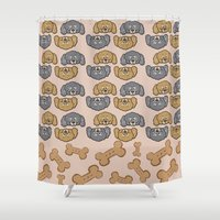 poodle Shower Curtains featuring Poodle Doodles by Brianna Heyer
