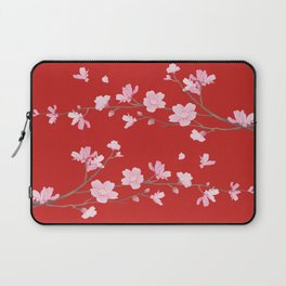 Cherry Blossom - Red Laptop Sleeve