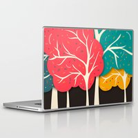 jazzberry Laptop & iPad Skins featuring Happy Forest by Danny Ivan
