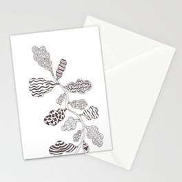 Leaf with pattern Stationery Cards