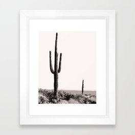 Wild wild west cactus wall art Framed Art Print