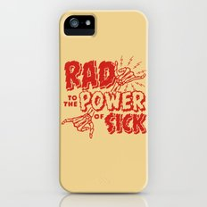 Rad to the Power of Sick - Red Print Slim Case iPhone (5, 5s)