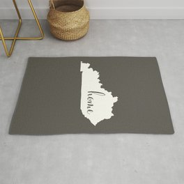 Kentucky is Home - White on Charcoal Rug