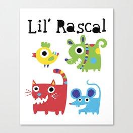 Lil' Rascal - Critters Canvas Print