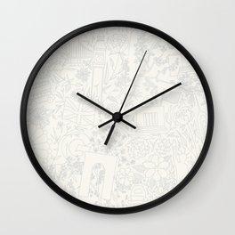 DC NYC London - Cream Wall Clock