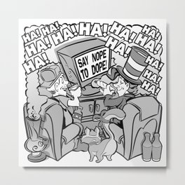 Say nope to dope editorial illustration Metal Print