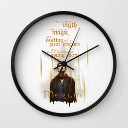 Merlin: Myth and Magic Wall Clock