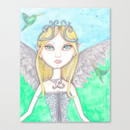 Hummingbird Faerie Canvas Print