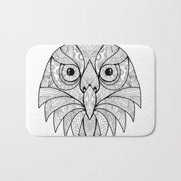 Australian Barking Owl Mandala Bath Mat