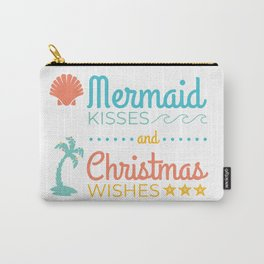 Mermaid Kisses and Christmas Wishes Carry-All Pouch