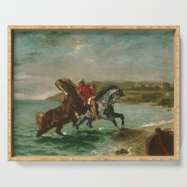 "Eugène Delacroix ""Horses Coming Out of the Sea"" Serving Tray"
