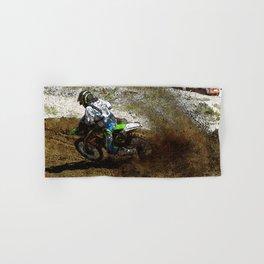 Round the Bend - Dirt-Bike Racing Hand & Bath Towel