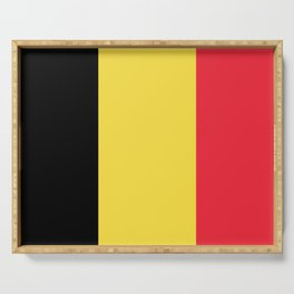 Flag of Belgium Black Yellow Red Serving Tray