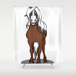 haflinger horse Cartoon Riding Pony Gift Present Shower Curtain