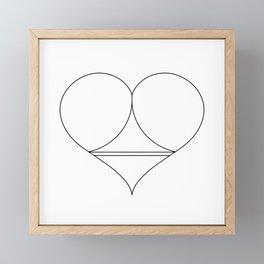 Butt Heart Framed Mini Art Print