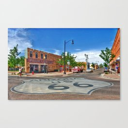 Standin on the Corner Route 66 in USA Canvas Print