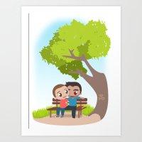 Sterek Spring Art Print