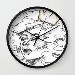 Melanin Goddess Wall Clock