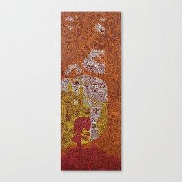 autumn princess and frog Canvas Print