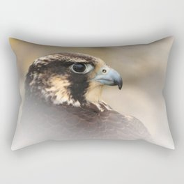 Vignetted Profile of a Peregrine Falcon Rectangular Pillow