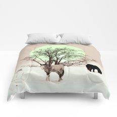 Winter horses Comforters