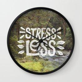 Stress Less Wall Clock