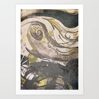 reassurance Art Prints featuring Abstraction INC II by Magdalena Hristova