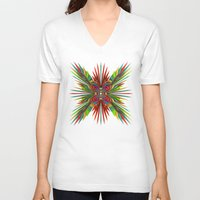 cyberpunk V-neck T-shirts featuring Tropica by Obvious Warrior