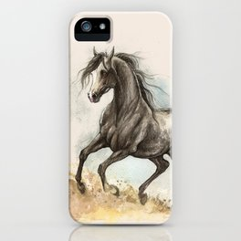 Golden dust under my hooves iPhone Case