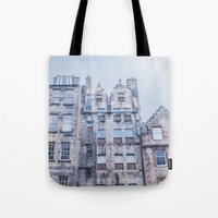 edinburgh Tote Bags featuring EDINBURGH by Marte Stromme