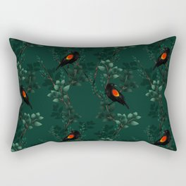 Red-Winged Blackbird Pattern Rectangular Pillow