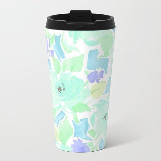 Floral 01 Metal Travel Mug