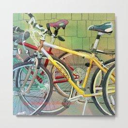 Bicycle Therapy Focus Metal Print