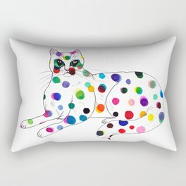 Dotted Cat - Color ink Drawing Rectangular Pillow