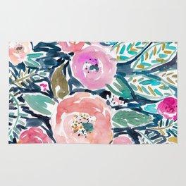 GARDENS OF CAPITOLA Watercolor Floral Rug