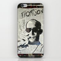 hunter s thompson iPhone & iPod Skins featuring Dr. Hunter S. Thompson by Mike Oncley
