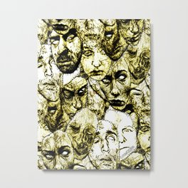 Face Stitches Metal Print