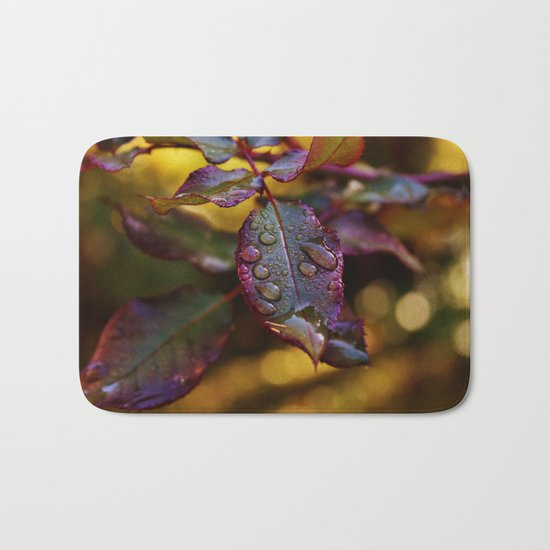 colourful leaves Bath Mat