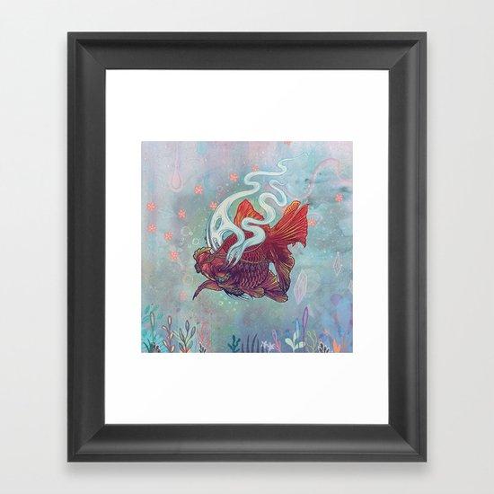 Ocean Jewel Framed Art Print