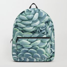 Turquoise Succulents Backpack