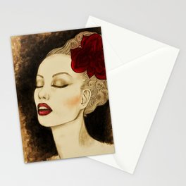 Jazzy girl Stationery Cards