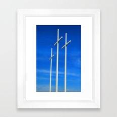Bellevue Crosses Framed Art Print