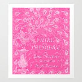 Pride and Prejudice - Hot Pink Art Print