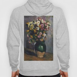 """Paul Cezanne """"Still Life with Flowers in an Olive Jar"""" Hoody"""